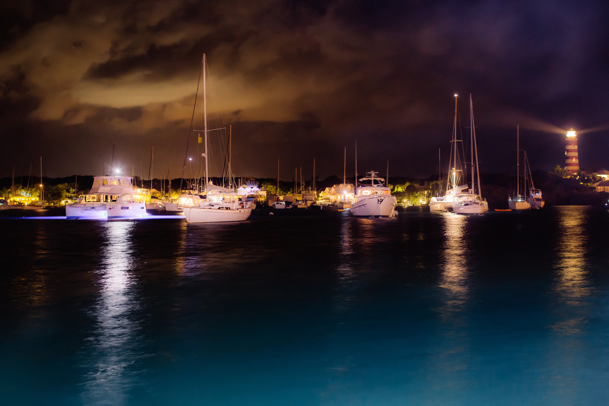 Night Time Harbor View