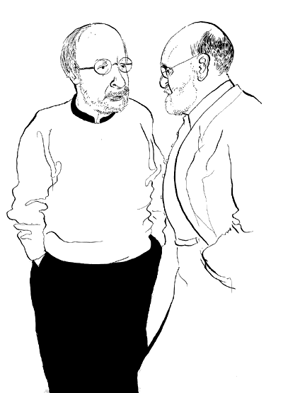 E. L. Doctorow & Geoffrey Wolfe / Live Sketch / The New Yorker