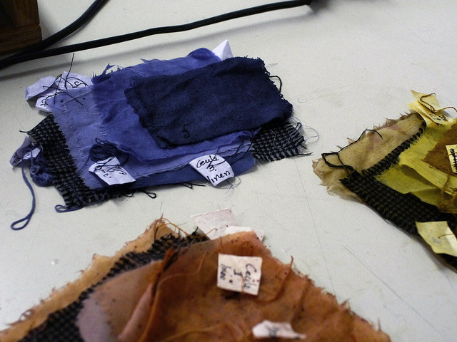cba natural dyeing workshop: fabric samples
