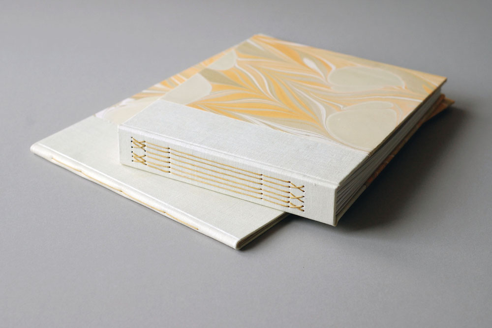 marbled guest book & album set