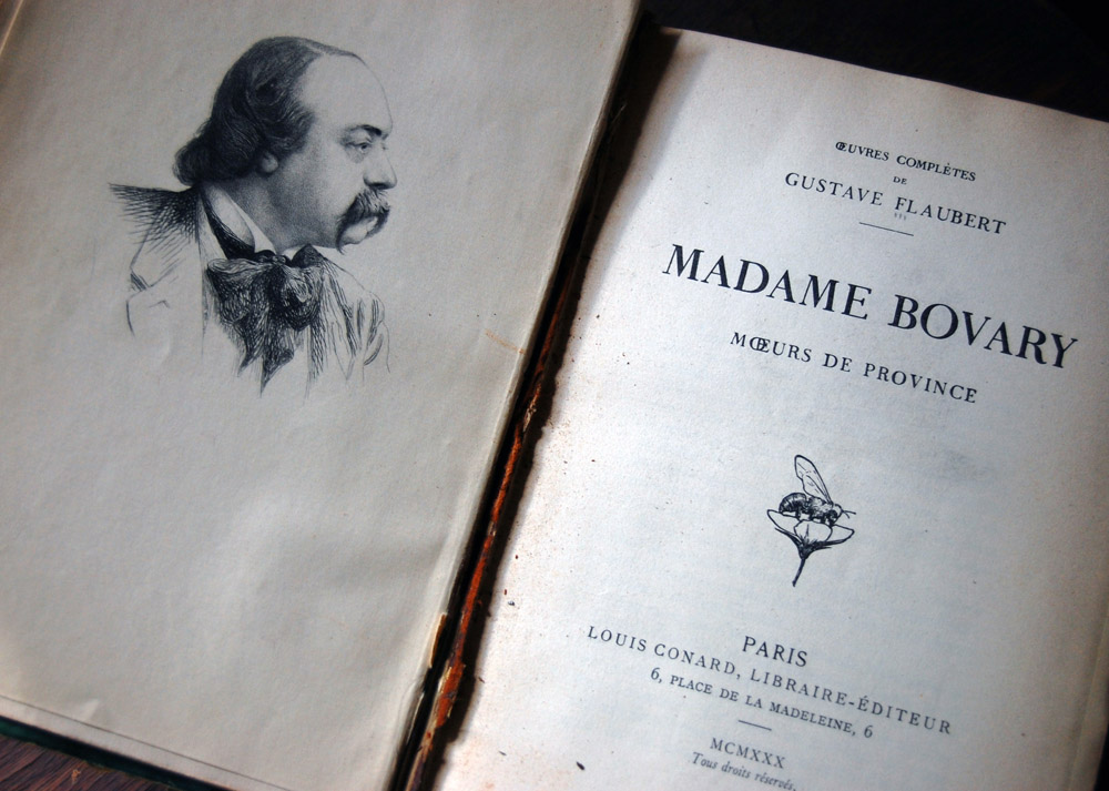 engraved frontispiece, madame bovary 1930 edition