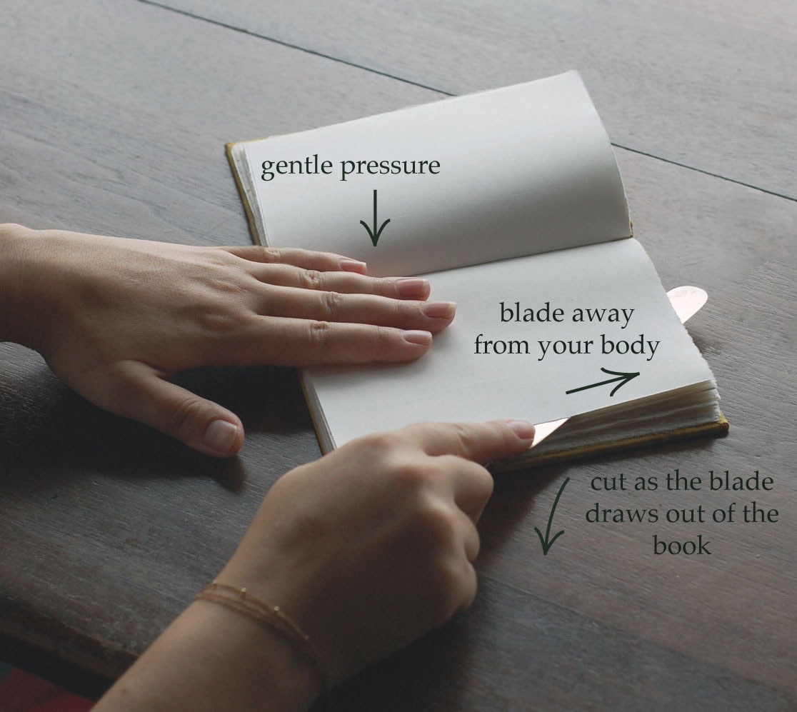 cutting pages