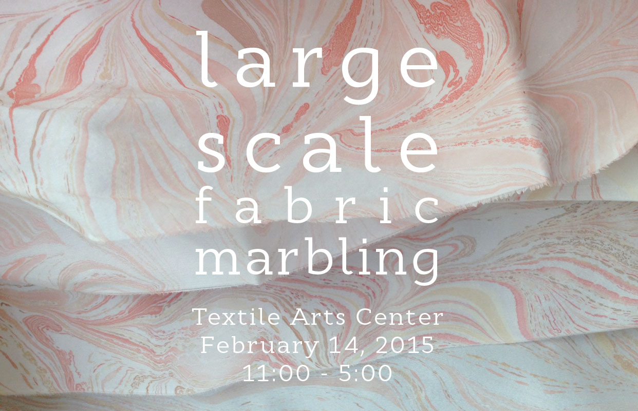 large scale fabric marbling