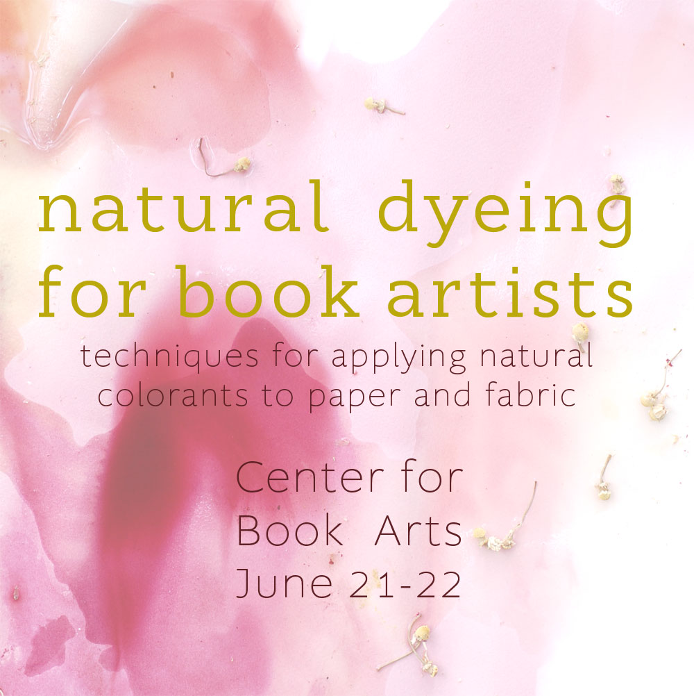 natural dyeing for book artists