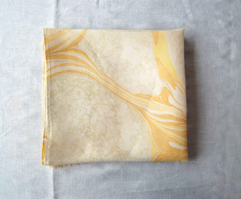 marbled silk runner