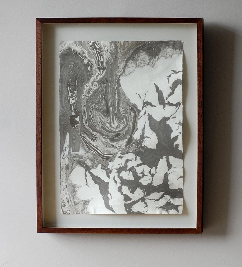 suminagashi print: floe