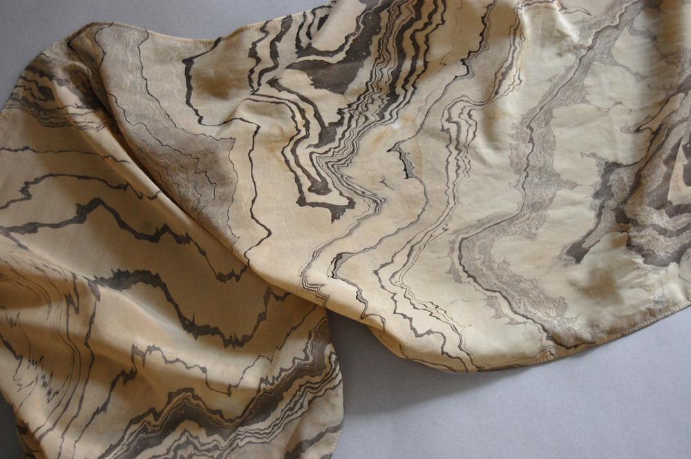 suminagashi marbled scarf