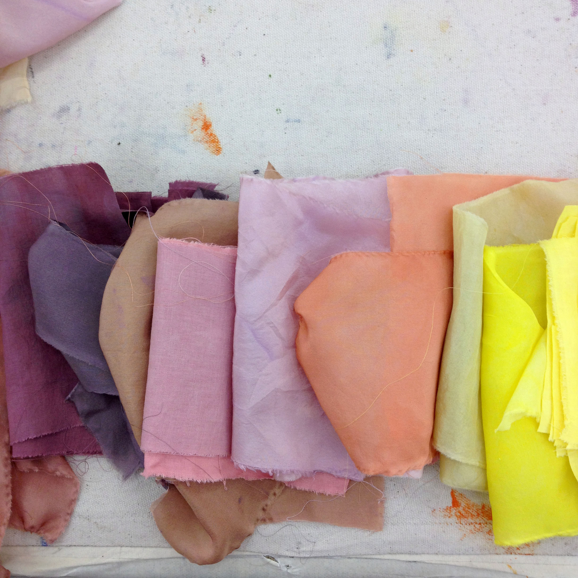 naturally dyed samples
