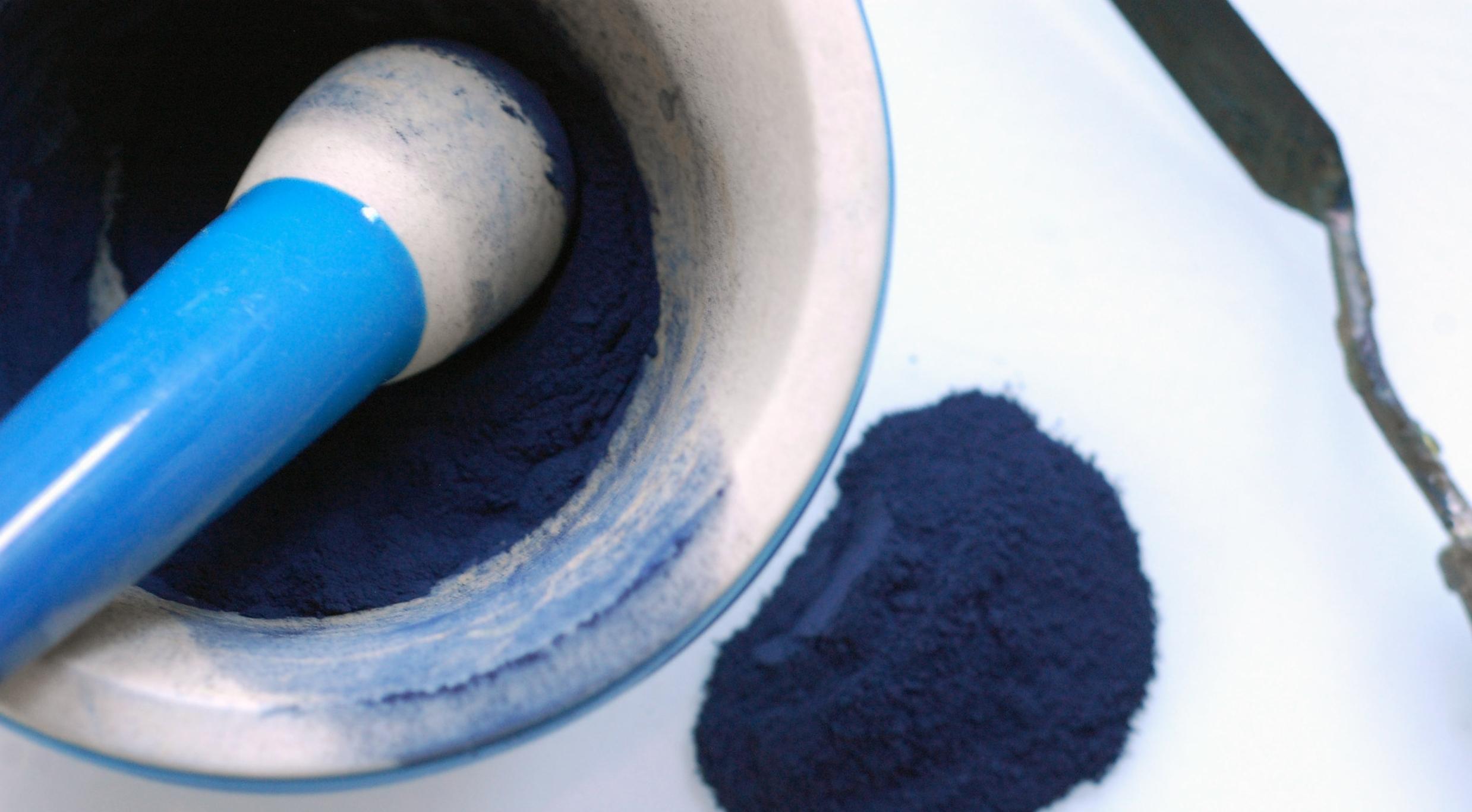 grinding indigo pigment