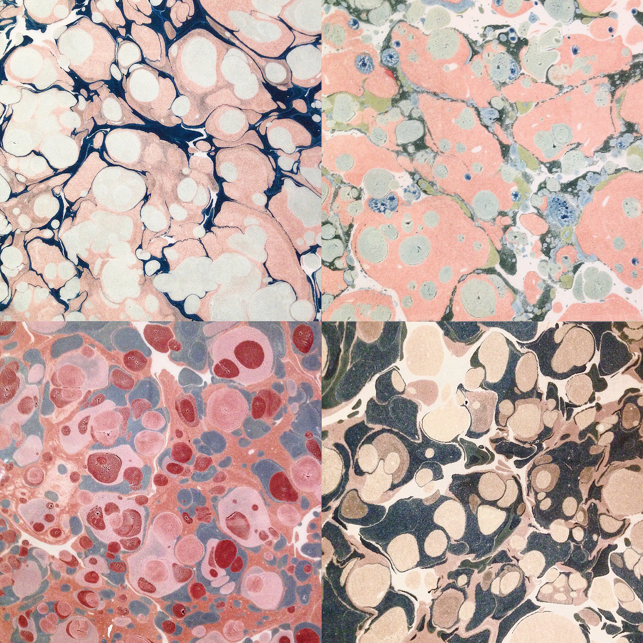stone patterns from lake pigments