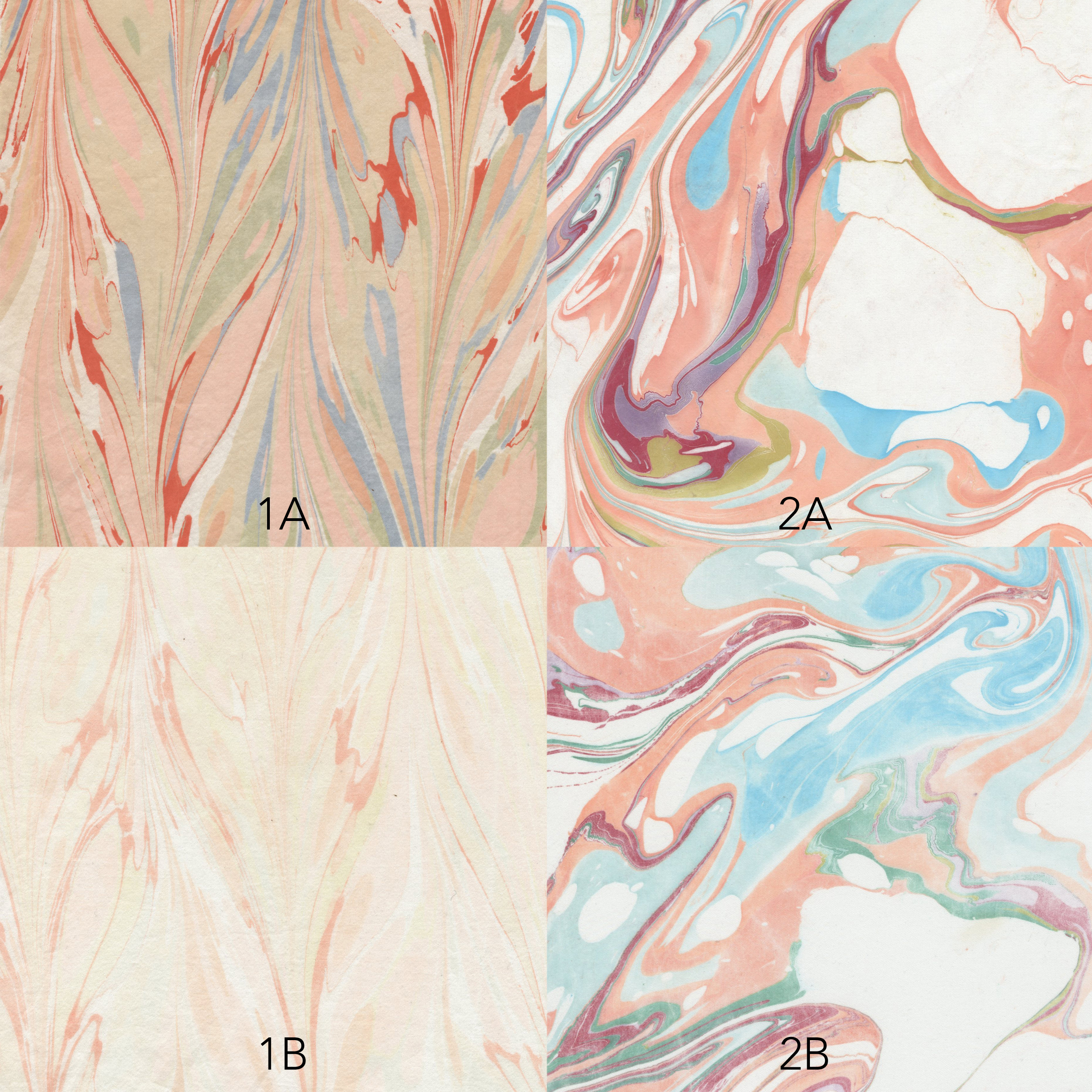marbled silk samples