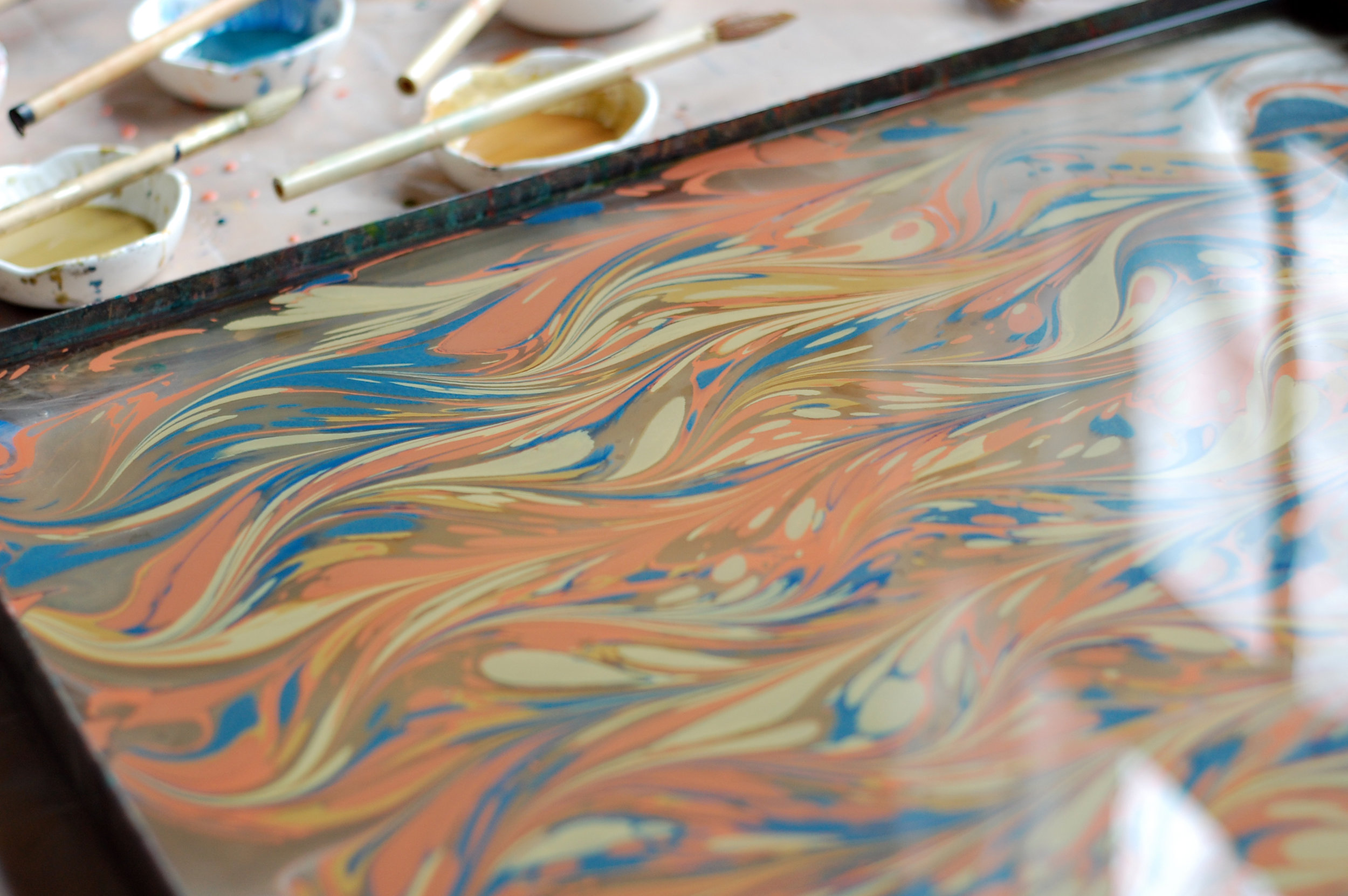 watercolor marbling