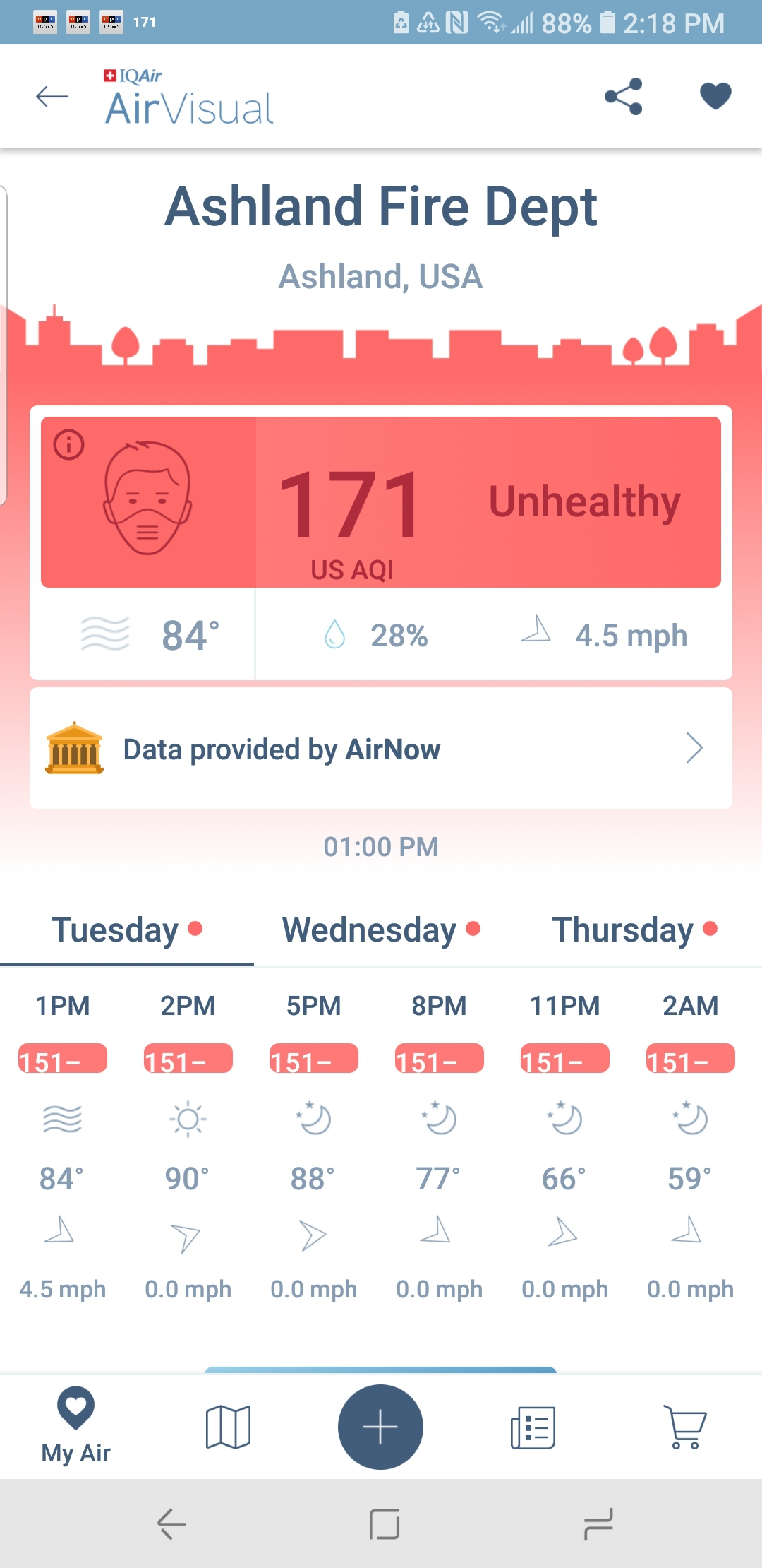 Unhealthy. - This has become a familiar sight on my phone's screen. Anything lower than
