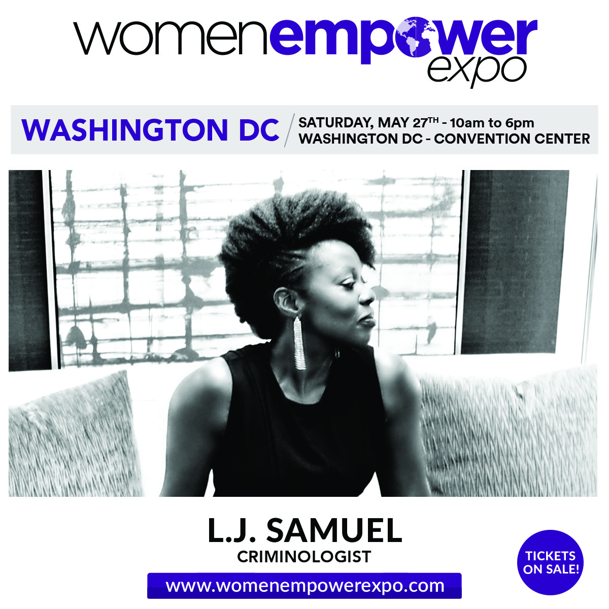 On Saturday, May 27, 2017 I led a self-defense workshop at the Women Empower Expo at the Washington, DC Convention Center and taught women how to protect themselves inside and outside the home.