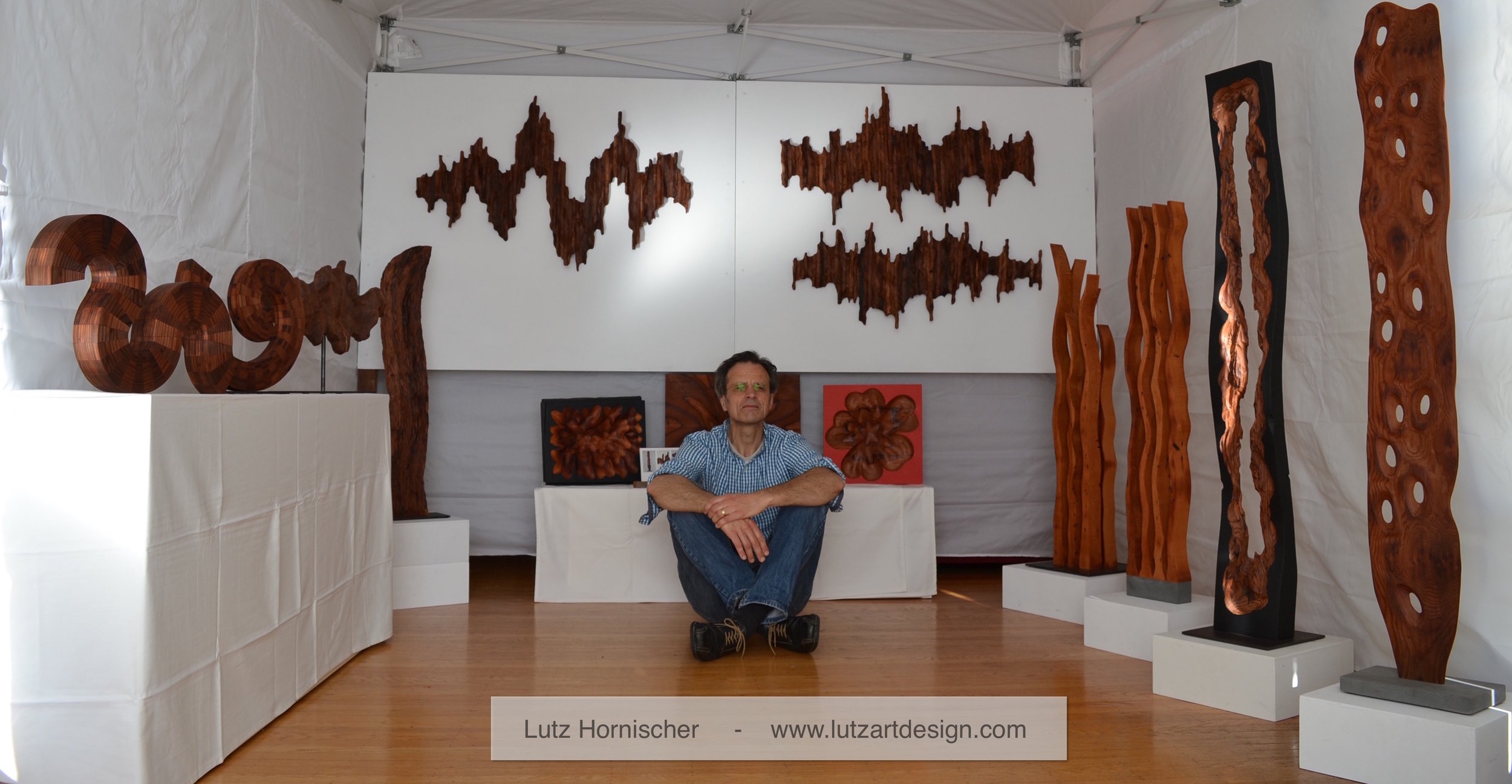East Bay Open Studios 2018 - contemporary wood sculptures and wall art by Lutz Hornischer