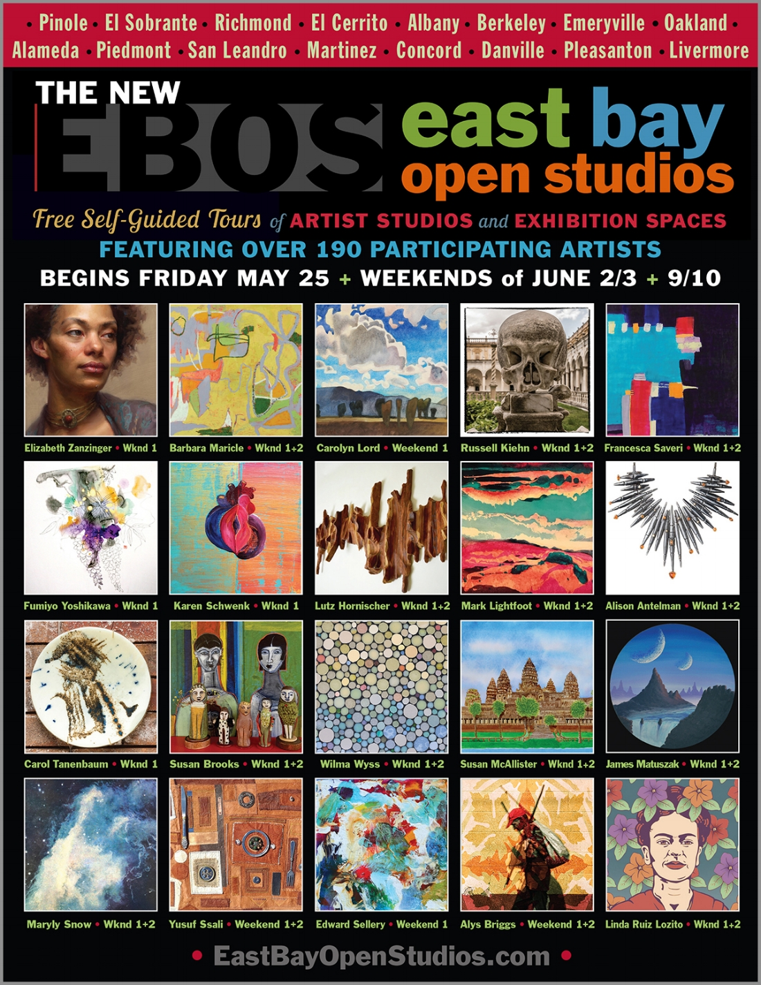 East Bay Open Studios 2018 Guidebook