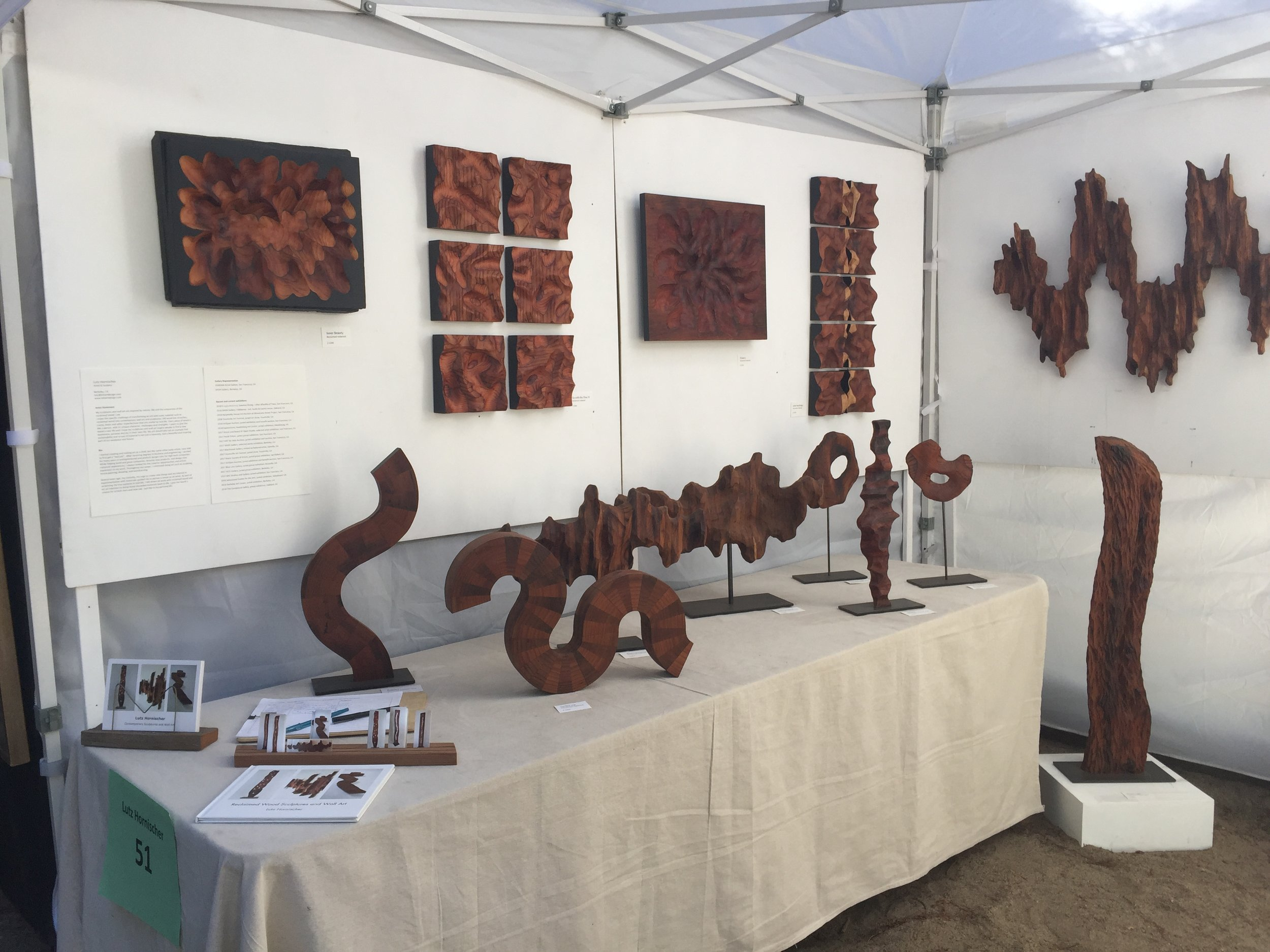 Mill Valley Art Festival - sculptures and wall art by Lutz Hornischer
