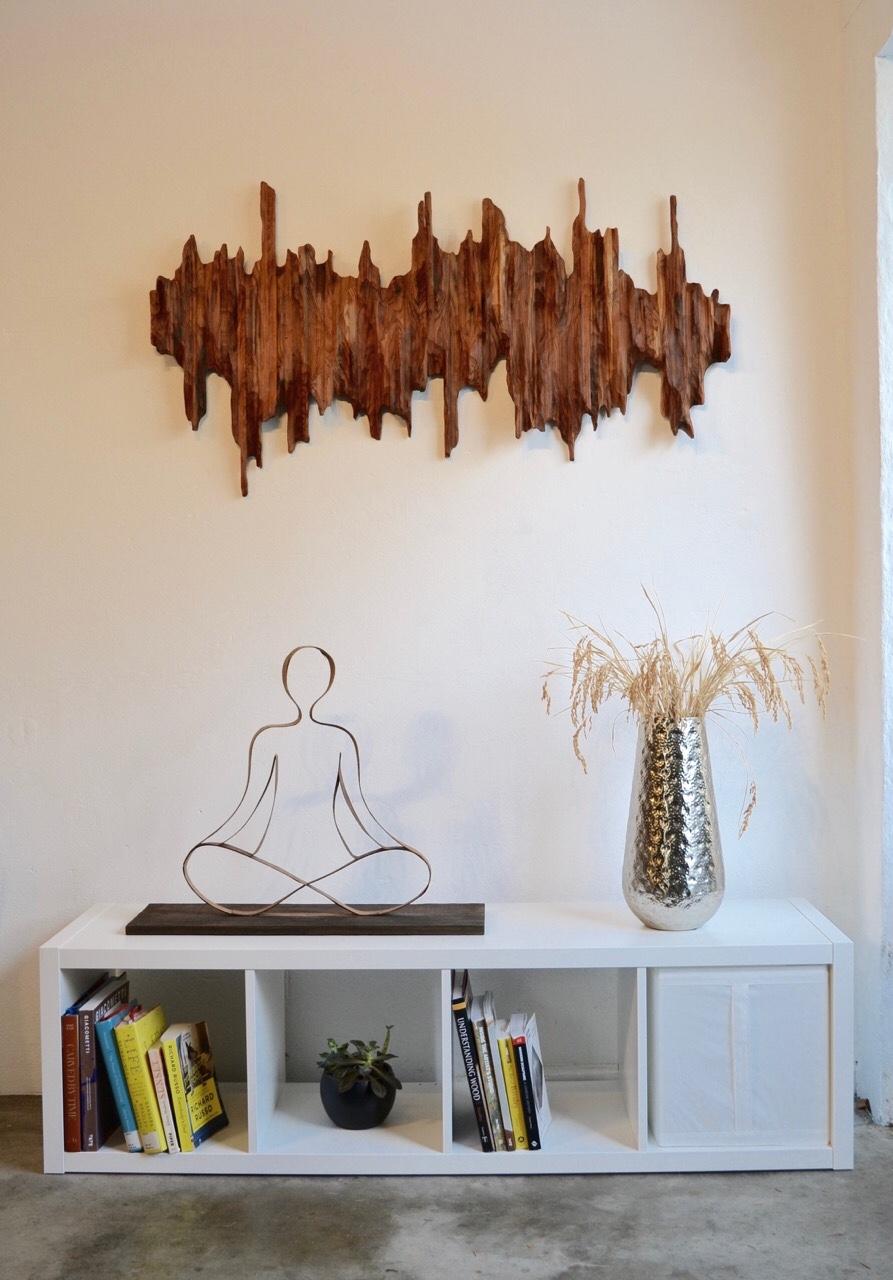 "Wall sculpture ""Mountain Ridge II"" in Berkeley home"