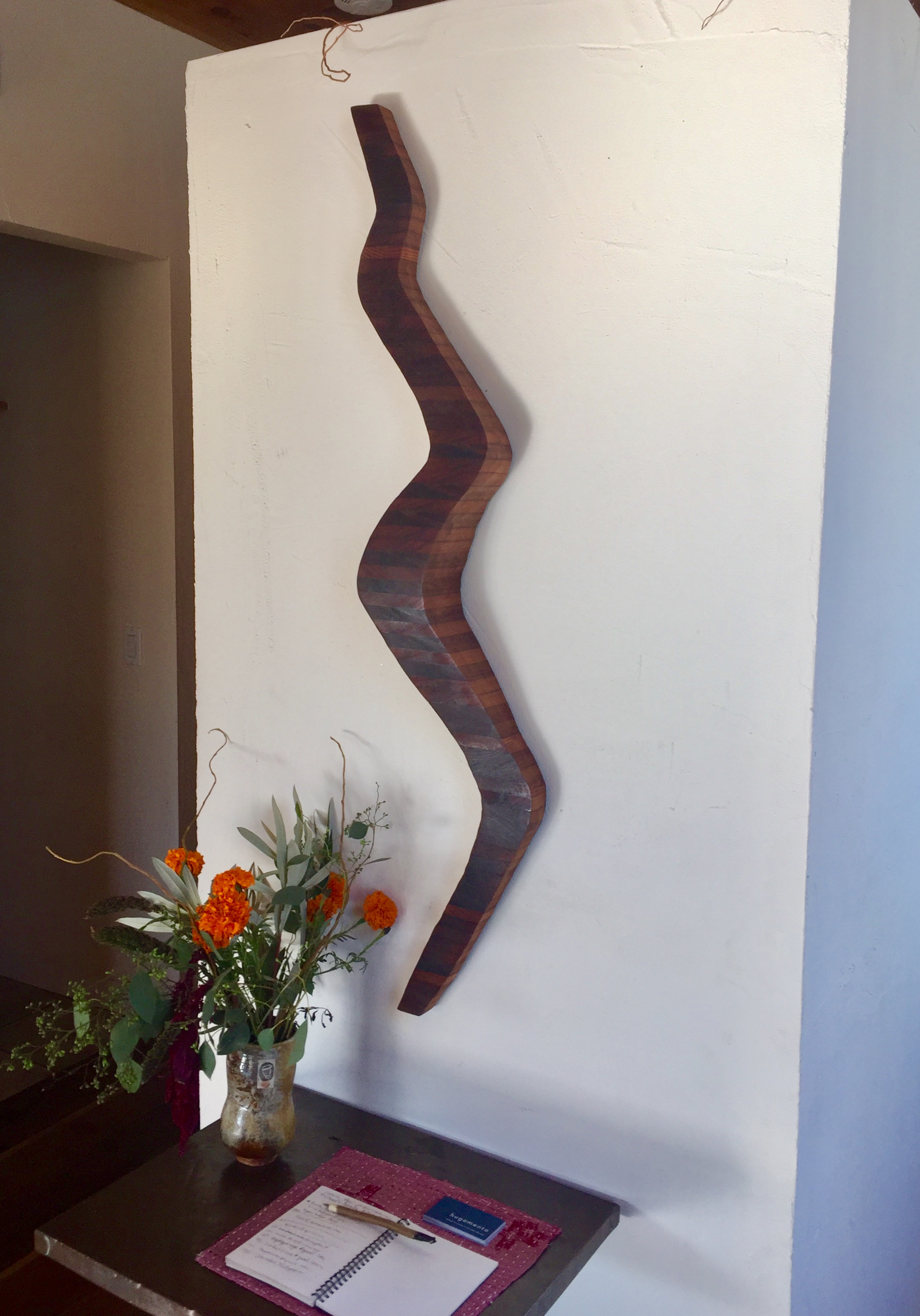 "Wall sculpture ""Winding"" at the Guesthouse of Piccino restaurant in San Francisco"