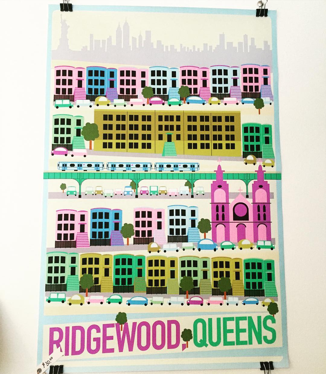 Finally stopped into the cutesttt lifestyle/home goods boutique in Ridgewood – Saint Seneca on Cypress Ave – and saw this awesome @ridgewood.queens print.                  #ridgewood #ridgewoodny #ridgewoodqueens #cypressave #myrtleave #saintseneca #queens #queenscapes #itsinqueens #heartofqueens @lauumariee @saint.seneca.store  (at Ridgewood, Queens)