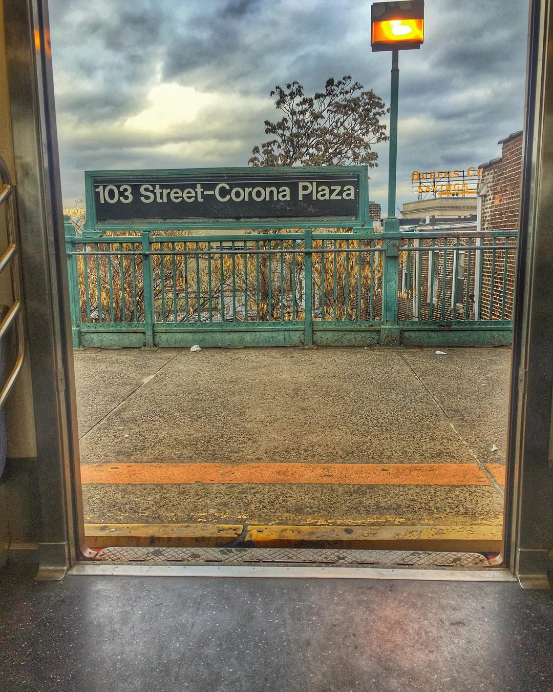 I could totally say something about doors opening on a new year…Happy 2016, Queens!            #corona #coronany #queens #queensnyc #queenscapes #7train #7line #heartofqueens  (at 103rd Street – Corona Plaza)