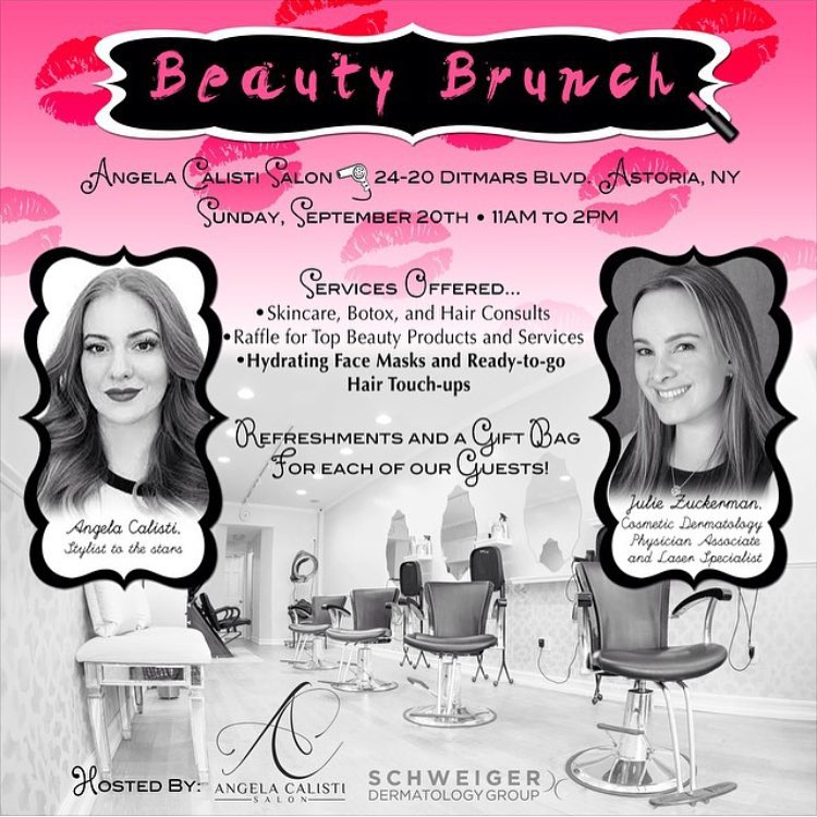 Hey, #Astoria!  @angelacalistisalon aka my gorgeous talented hair stylist @thatbeautyqueen is having a Beauty Brunch this Sunday at her Ditmars salon! Go check it out –refreshments & giveaways! (at Angela Calisti Salon)