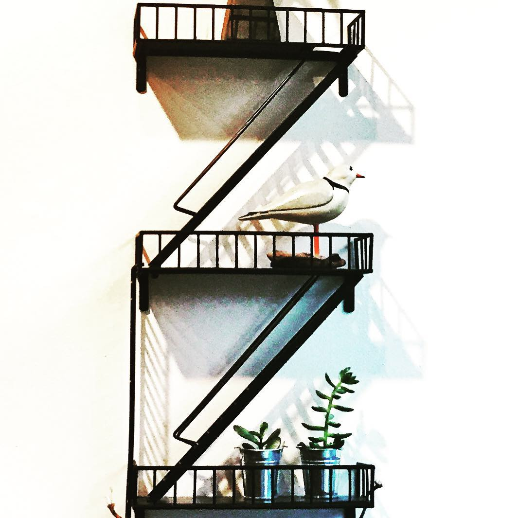 Day 57/100: Obsessed with this fire escape shelf from @beliefnyc in #Astoria        #shoplocal #shopqueens #astoriany #queens #queensnyc #queensshopping #queenscapes #queensfireescapes #heartofqueens #100daysofqueens (at Belief)