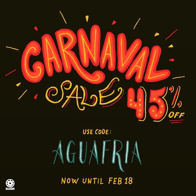 One of our favorite Queens-based designers @suda_nyc is having a 45% off carnaval sale – get those #todovabien sweatshirts while they last! #jacksonheights #queenslove