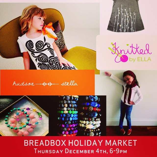 Start your holiday shopping tonight 6-9pm at Breadbox Cafe in #LIC feat @hudsonandstella jewelry and other great artists! (at Breadbox Cafe LIC)