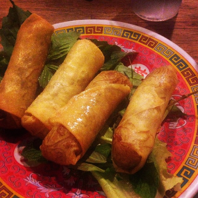 Crab spring rolls from bun-ker in Ridgewood. Delicious Vietnamese street food and the staff is always ridiculously nice! Read more about bun-ker  here .