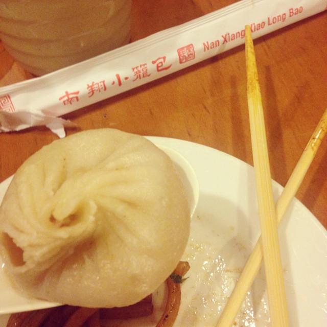 Soup dumpling snack time at Nan Xiang Xiao Long Bao. Read more  here .