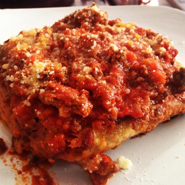 Delicious lasagna bolognese #maspeth (at Osteria Italiana)
