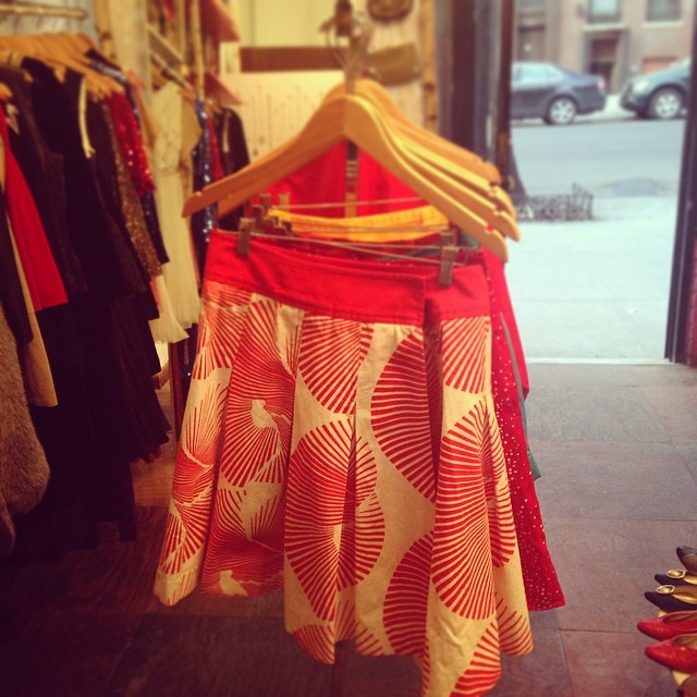 I love this DVF skirt from  Loveday 31  in Astoria.       View  Queens, NY  in a larger map