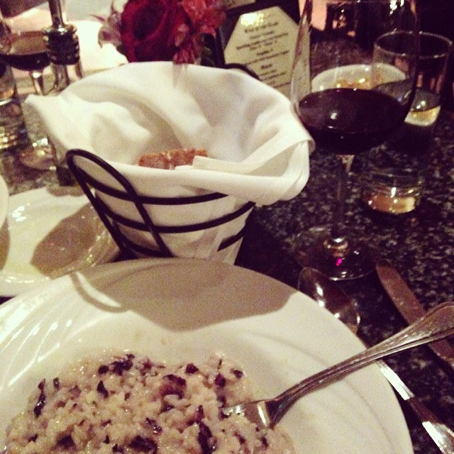 Friday night dinner at Manetta's in LIC: Taleggio risotto with radicchio ( read more about Manetta's ).