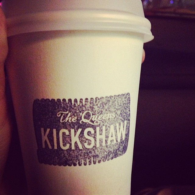 Post-shopping cappuccino from The Queens Kickshaw.   The Queens Kickshaw  40-17 Broadway  Astoria NY 11103       View  Queens, NY  in a larger map