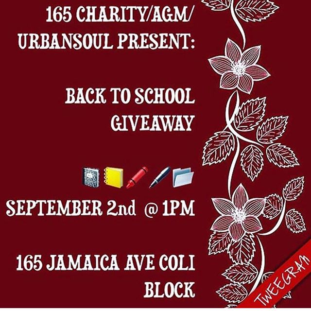 Please repost and tag someone!! Today stop by 165th !! As the block gives back. Unfortunately the weather didn't allow us to do everything we wanted to do for our community but stop by with your kids and get some free school supplies.  We really look forward to serving and giving back more throughout the year. 🙏🏽🙏🏽