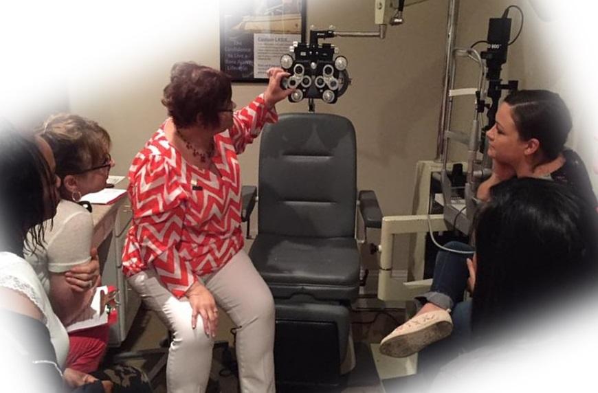 Sharon teaches subjective refraction in Texas