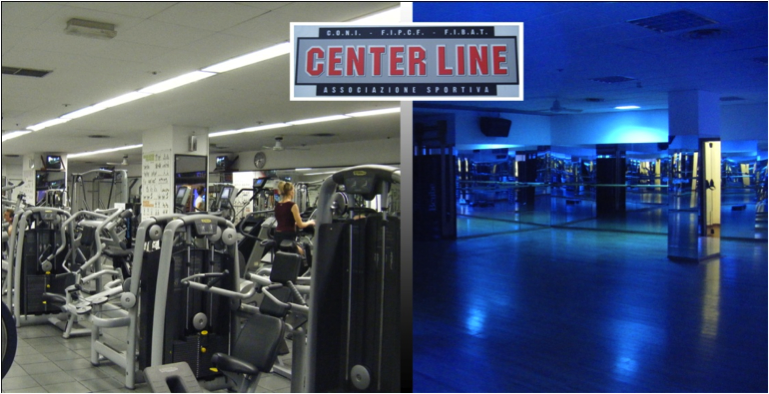 Weightroom and spinning/aerobics room at Center Line gym, one of three gyms where I would sweat it out with Italians.