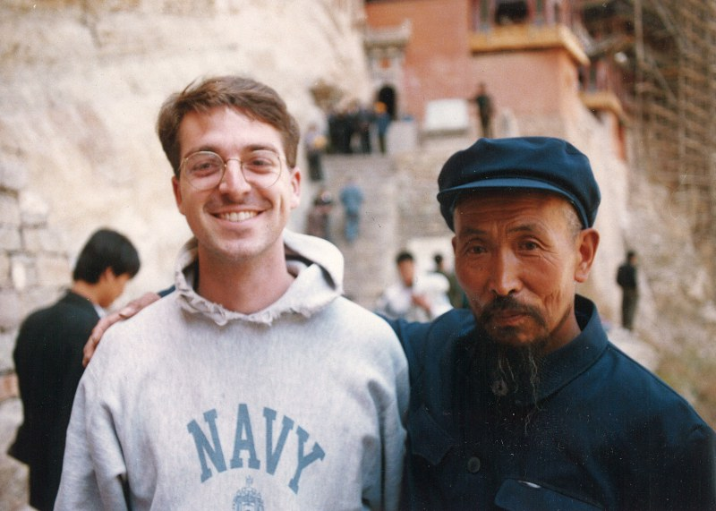 Mark studying abroad in China in 1987