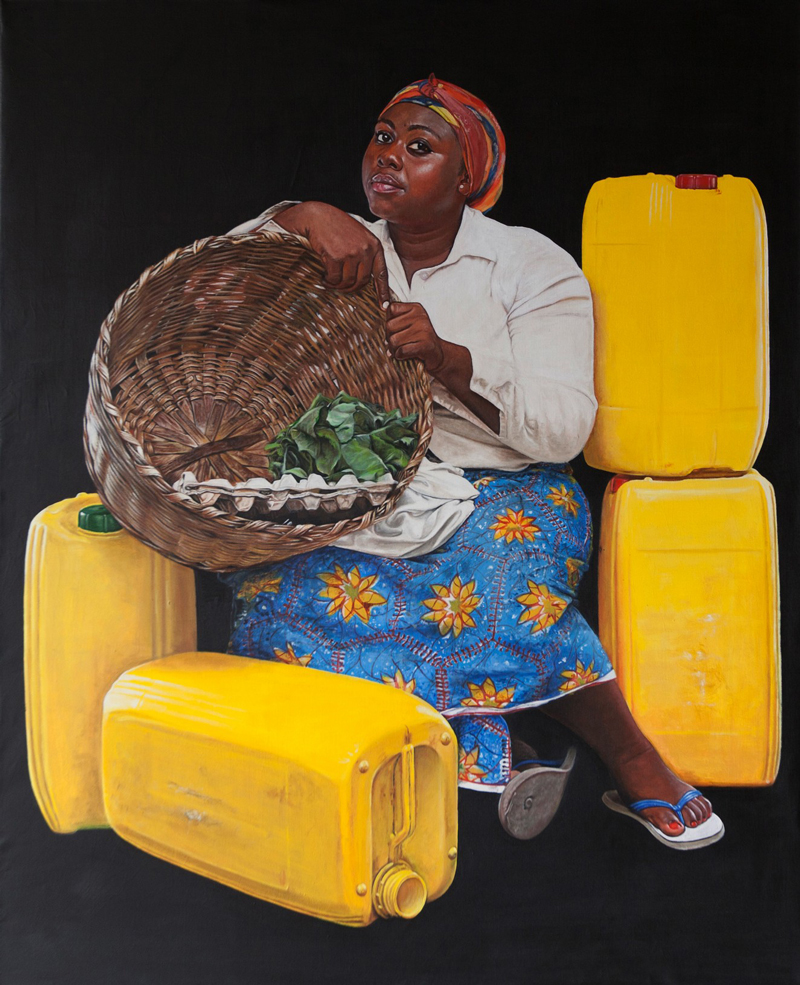 Jeremiah Quarshie,   Manye   , Yellow is the Colour of Water, 2016. Courtesy Gallery 1957 and artist.