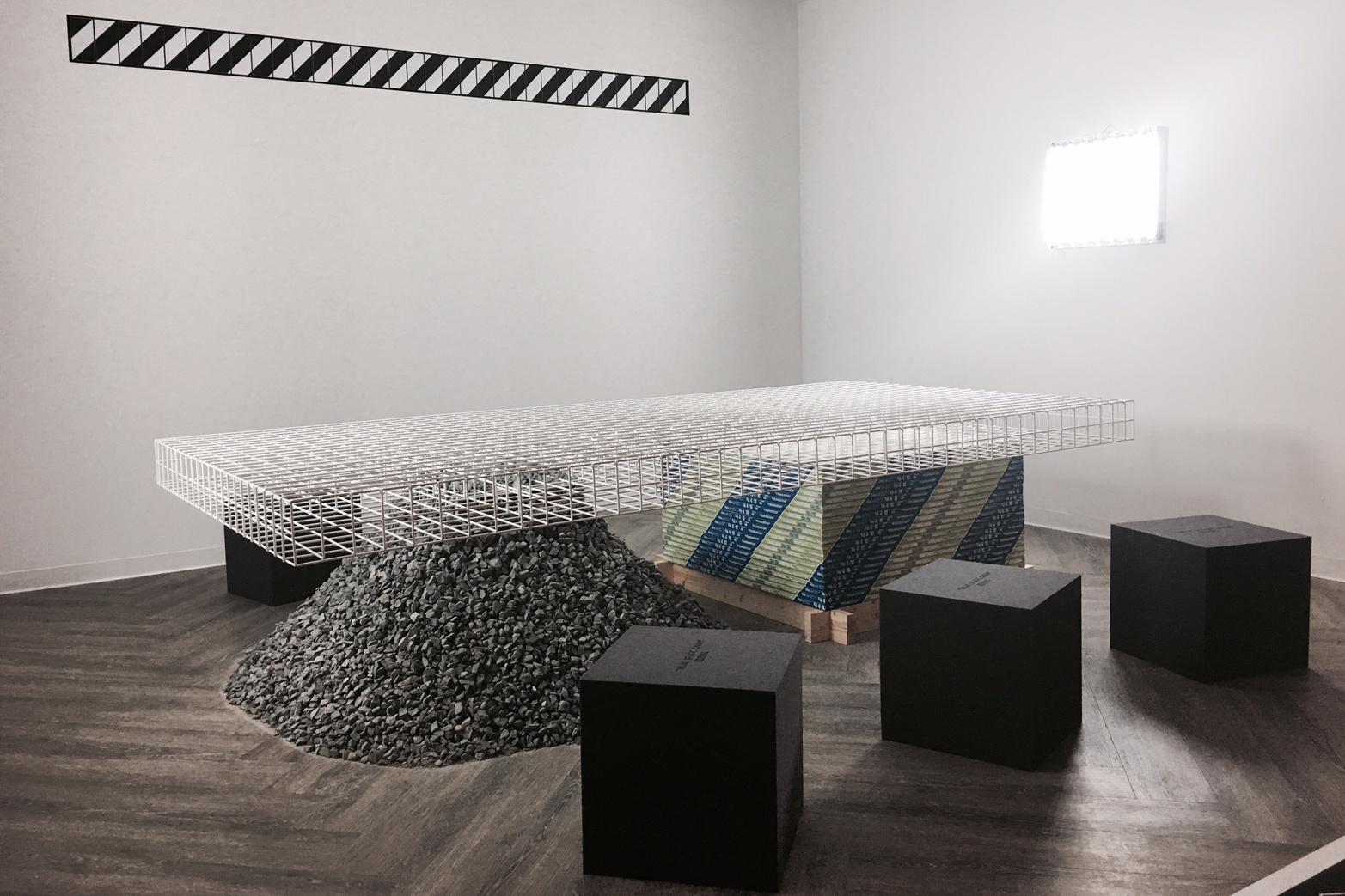 Installation view of the OFF-WHITE exhibit at Design Miami/ 2016.