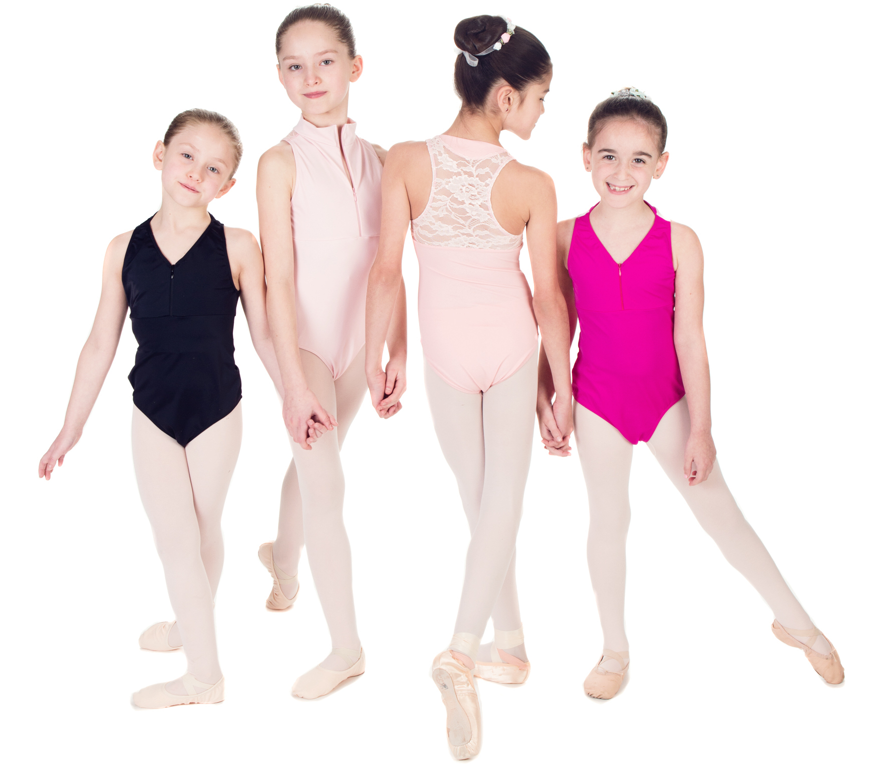 """Contemporary"" Razor Back Leotard with Lace or Mesh - V-Neck or Turtleneck -Custom Designed Leotards - Child and Adult Sizes"