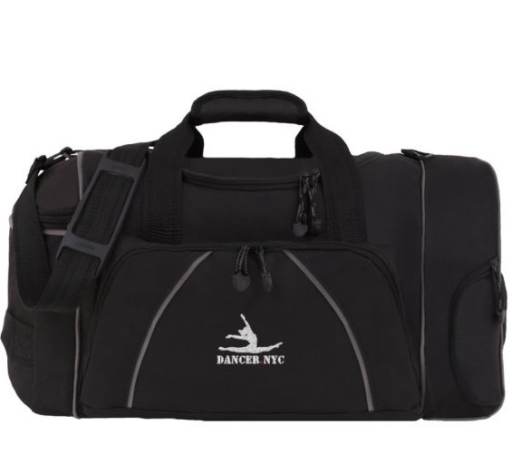 "DANCE BAG The Perfect 20"" Black Duffle Bag for Dancers by Dancer.NYC"