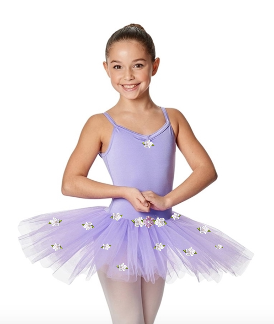 Young Dancer Tutu - Camisole Leotard with Attached Tulle Skirt