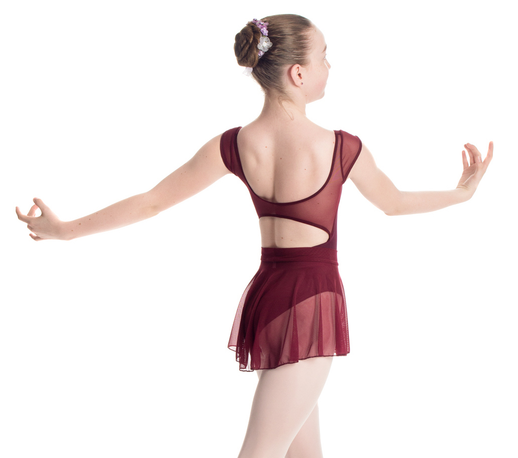 """""""Princess"""" Leotard with Cap Sleeve and Back Strap in Mesh - Custom Designed Leotards - Child and Adult Sizes"""