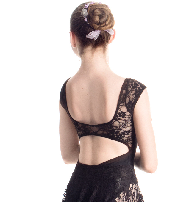 """""""Princess"""" Cap Sleeve Leotard with Back Strap in Lace - Custom Designed Leotards - Child and Adult Sizes"""