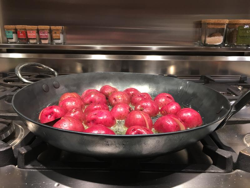 making some potatoes