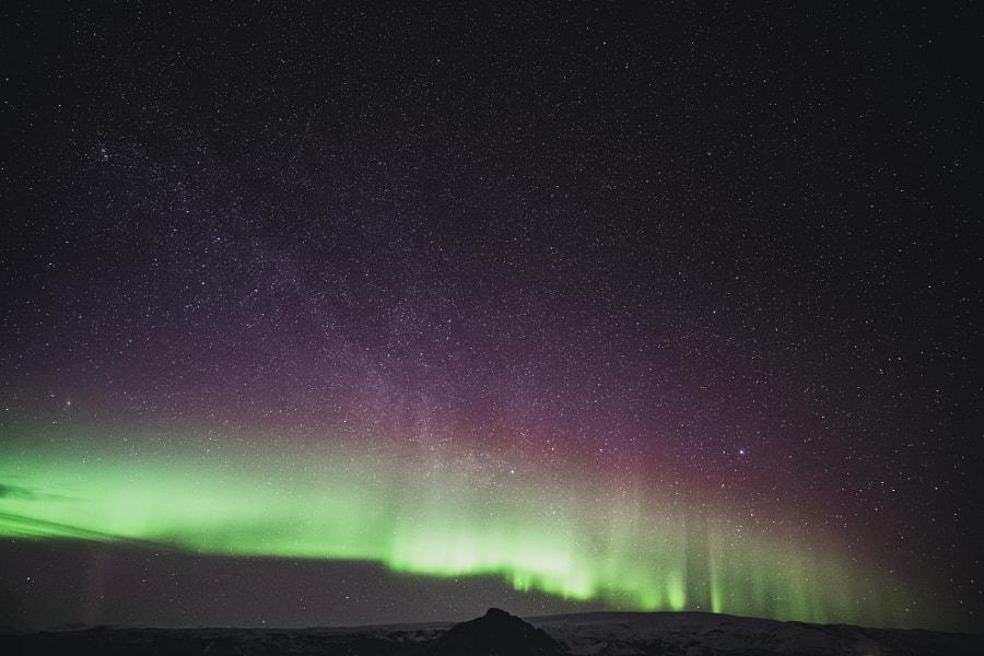 Aurora near Vik Iceland