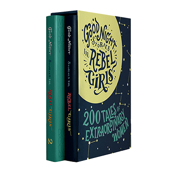The Rebel Gift Box for Girls - Volume 1 and Volume 2 of Good Night Stories for Rebel Girls. If you have a young woman in your family get this book for them.