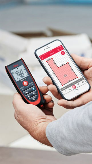 Bluetooth - You can send measurements to your phone
